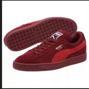 PUMA Classic Suede Pomegranate-Ribbon Red Sneakers